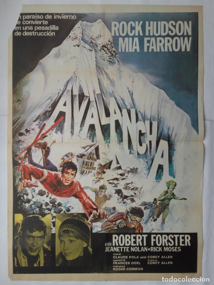 CARTEL CINE, AVALANCHA, ROCK HUDSON, MIA FARROW, 1978 , C-358 (Cine - Posters y Carteles - Aventura)