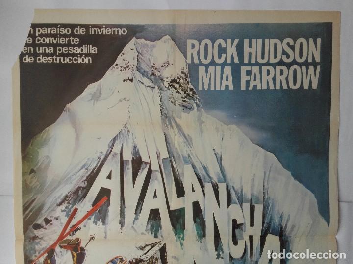 Cine: CARTEL CINE, AVALANCHA, ROCK HUDSON, MIA FARROW, 1978 , C-358 - Foto 2 - 122942231