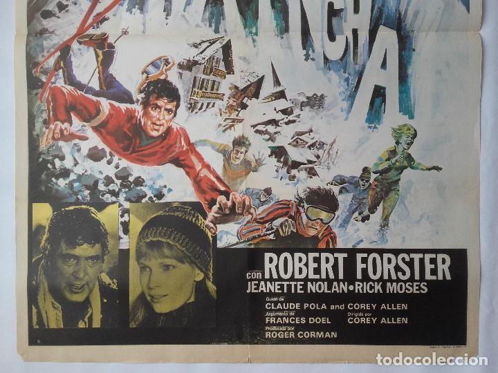 Cine: CARTEL CINE, AVALANCHA, ROCK HUDSON, MIA FARROW, 1978 , C-358 - Foto 3 - 122942231