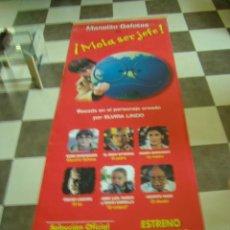 Cine: CARTEL ORIGINAL PUBLICITARIO MANOLITO GAFOTAS SALA DE CINE MURAL FACHADA CINE GIGANTE 3 METROS. Lote 122945107