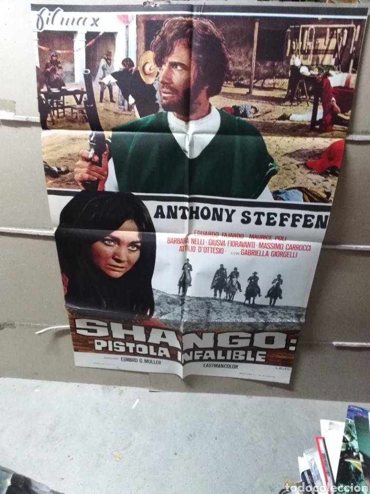 SHANGO PISTOLA INFALIBLE SPAGHETTI POSTER ORIGINAL 70X100 YY (1852) (Cine - Posters y Carteles - Westerns)