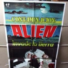 Cine: CONTAMINACIÓN ALIEN INVADE LA TIERRA POSTER ORIGINAL 70X100 YY (BUHARD). Lote 123686058