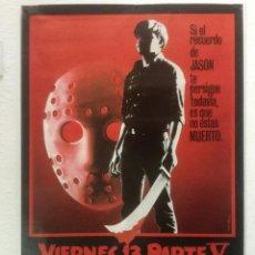 Cine: VIERNES 13 5 V PARTE - POSTER CARTEL ORIGINAL - FRIDAY V A NEW BEGINNING DANNY STEINMANN JASON. Lote 124090311