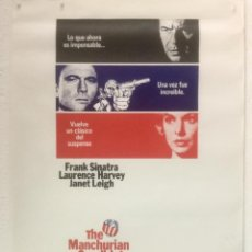 Cine: EL MINISTERIO DEL MIEDO - POSTER CARTEL ORIGINAL -THE MANCHURIAN CANDIDATE FRANK SINATRA JANET LEIGH. Lote 124130083