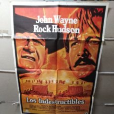 Cine: LOS INDESTRUCTIBLES JOHN WAYNE ROCK HUDSON POSTER ORIGINAL 70X100 Q. Lote 124545496