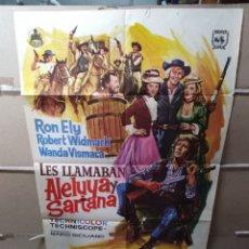 Cine: LES LLAMABAN ALELUYA Y SARTANA RON ELY POSTER ORIGINAL 70X100 Q. Lote 124547826