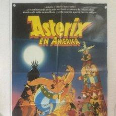 Cine: ASTERIX EN AMERICA - POSTER CARTEL ORIGINAL - UDERZO GOSCINNY ANIMACION OBELIX CONQUERS AMERICA. Lote 124616027