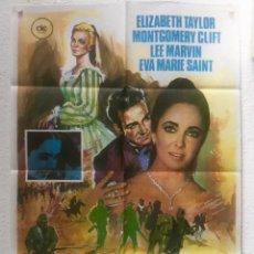 Cine: EL ARBOL DE LA VIDA - POSTER CARTEL ORIGINAL - ELIZABETH TAYLOR MONTGOMERY CLIFT LEE MARVIN . Lote 124651019