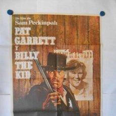 Cine: PAT GARRET Y BILLY THE KID + EL POKER DE LA MUERTE - DOS CARTELES 70 X 100. Lote 124659155