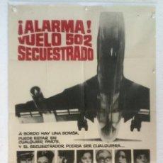 Cine: ALARMA VUELO 502 SECUESTRADO - POSTER CARTEL ORIGINAL - CHARLTON HESTON YVETTE MIMIEUX SKYJACKED. Lote 124892075