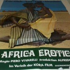 Cine: CARTEL POSTER - AFRICA EROTICA (EL ÚLTIMO HOMBRE VIVO) -84 X 59. Lote 125016195