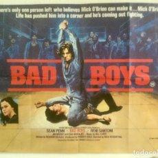 Cine: BAD BOYS - POSTER CARTEL ORIGINAL INGLES - SEAN PENN ALLY SHEEDY RICK ROSENTHAL. Lote 125125535