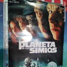 Cine: POSTER EL PLANETA DE LOS SIMIOS - 98/65CM. Lote 125139015