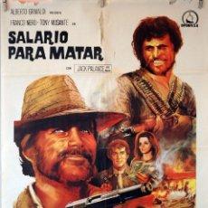 Cine: SALARIO PARA MATAR. CARTEL ORIGINAL 1969 70X100. Lote 125219447