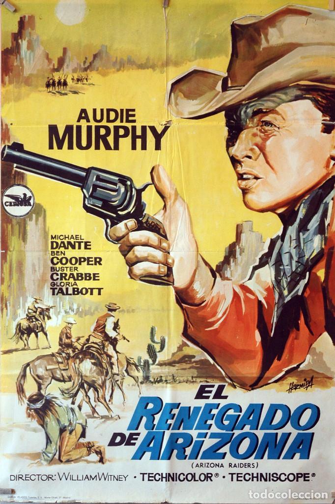 EL RENEGADO DE ARIZONA. CARTEL ORIGINAL 1965. 70X100 (Cine - Posters y Carteles - Westerns)