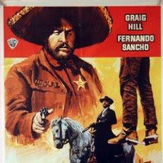 Cine: LOS BUITRES CAVARÁN TU FOSA. CARTEL ORIGINAL 1972. 70X100. Lote 125219727