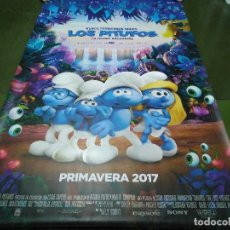 Cine: LOS PITUFOS, LA ALDEA PERDIDA - APROX 120X210 LONA/BANNER ORIGINAL CINE (X16). Lote 125240719
