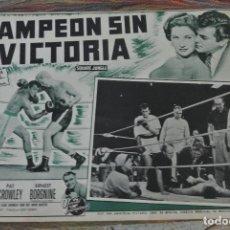 Cine: CARTEL DE CINE. MEXICO. PELICULA. CAMPEÓN SIN VICTORIA. Lote 125346923