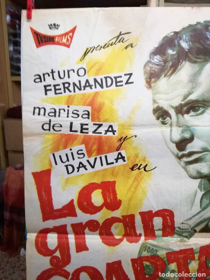 Cine: CARTEL LA GRAN COARTADA - ARTURO FERNANDEZ - MARISA DE LEZA - JOSE LUIS MADRID-100X70CM.AÑO 1963 - Foto 2 - 125383599