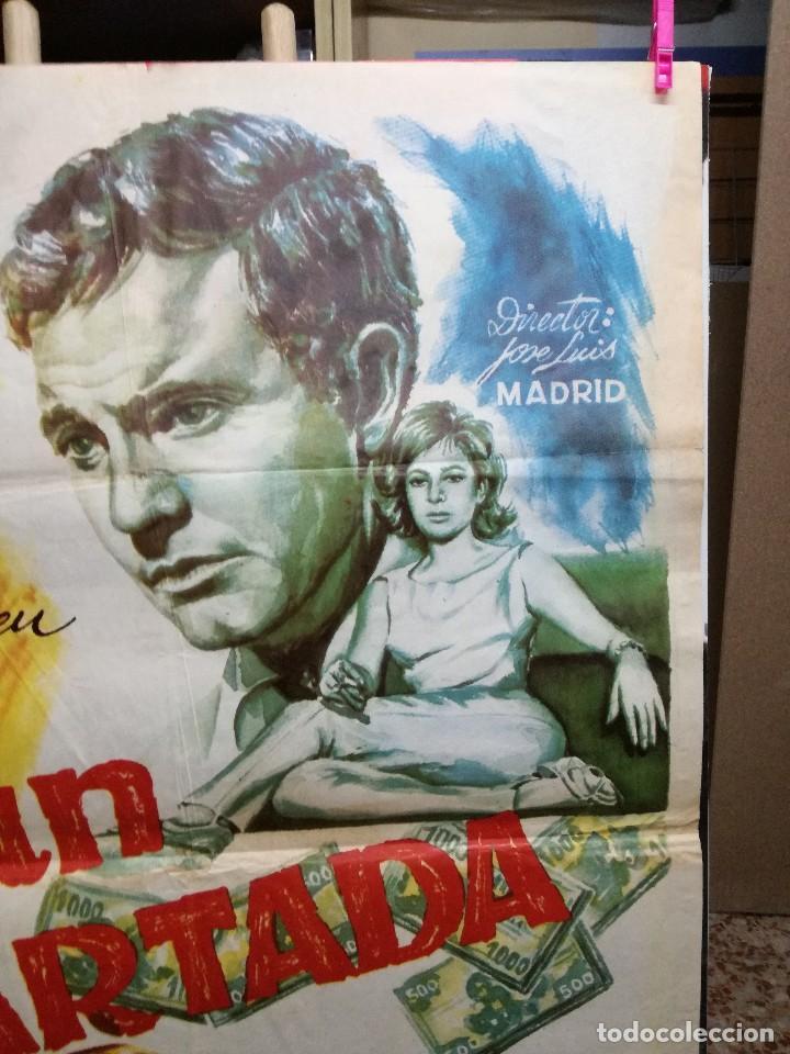 Cine: CARTEL LA GRAN COARTADA - ARTURO FERNANDEZ - MARISA DE LEZA - JOSE LUIS MADRID-100X70CM.AÑO 1963 - Foto 3 - 125383599