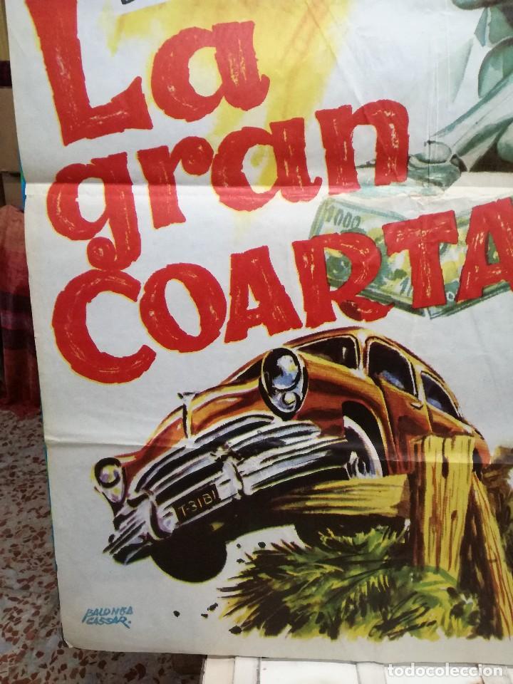 Cine: CARTEL LA GRAN COARTADA - ARTURO FERNANDEZ - MARISA DE LEZA - JOSE LUIS MADRID-100X70CM.AÑO 1963 - Foto 4 - 125383599