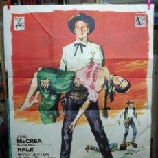 Cine: EL HOMBRE DE OKLAHOMA JOEL MCCREA POSTER ORIGINAL 70X100 ESTRENO-AÑO 1964 . Lote 125386675