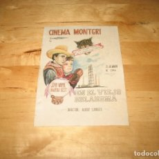 Cine: MINI CARTEL PROGRAMA FOLLETO PELÍCULA CINE EN EL VIEJO OKLAHOMA CINEMA MONTGRI ALBERT S. ROGELL. Lote 125651958