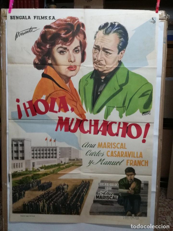 HOLA MUCHACHO ANA MARISCAL POSTER ORIGINAL 70X100 ESTRENO VER FOTOS (Cine - Posters y Carteles - Clasico Español)