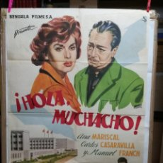 Cine: HOLA MUCHACHO ANA MARISCAL POSTER ORIGINAL 70X100 ESTRENO VER FOTOS. Lote 125832939
