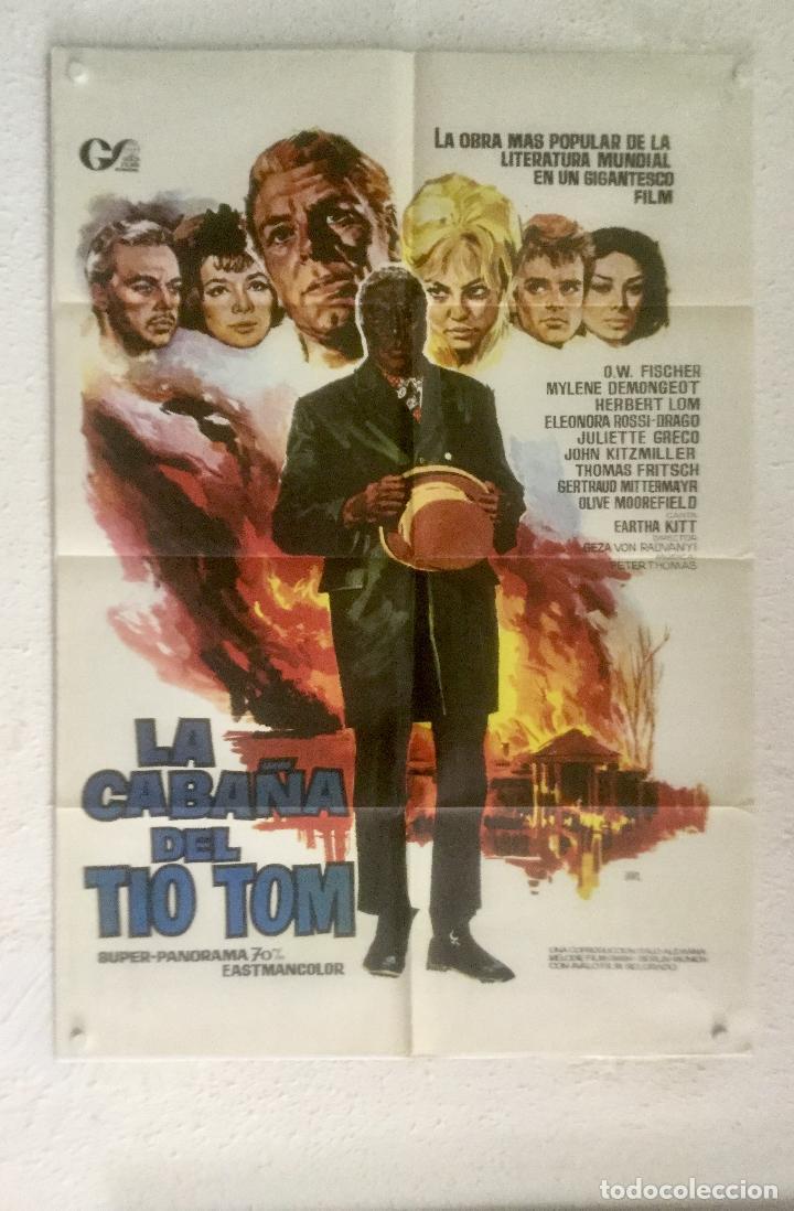 LA CABAÑA TIO TOM - POSTER CARTEL ORIGINAL - MYLENE DEMONGEOT JULIETTE GRECO JANO (Cine - Posters y Carteles - Aventura)