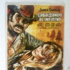 Cine: CABALGANDO AL INFIERNO - POSTER CARTEL ORIGINAL - JAMES GARNER LAURA ANTONELLI DENNIS WEAVER. Lote 125906563