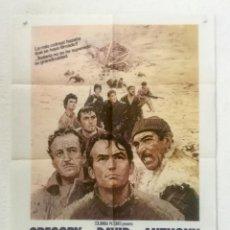 Cine: LOS CAÑONES DE NAVARONE - POSTER CARTEL ORIGINAL - GREGORY PECK DAVID NIVEN 2ª GUERRA MUNDIAL. Lote 126001843