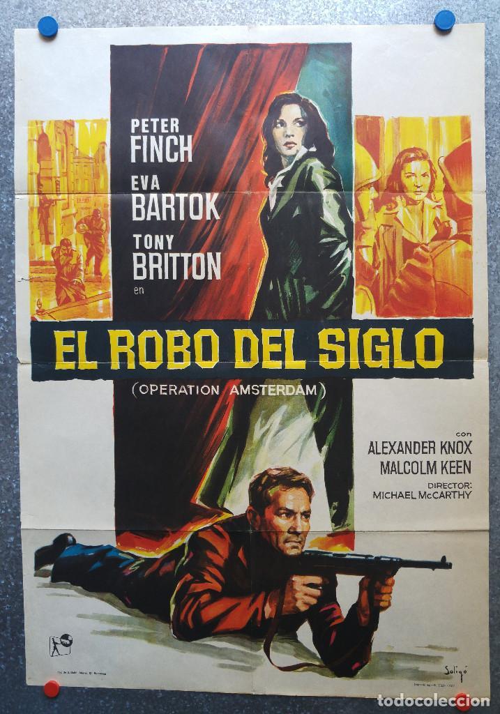 EL ROBO DEL SIGLO. PETER FINCH, EVA BARTOK, TONY BRITTON. AÑO 1971. SOLIGO (Cine - Posters y Carteles - Suspense)