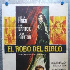 Cine: EL ROBO DEL SIGLO. PETER FINCH, EVA BARTOK, TONY BRITTON. AÑO 1971. SOLIGO. Lote 126033667