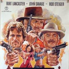 Cine: LA LEYENDA DE BILL DOOLIN. BURT LANCASTER. ROD STEIGER. CARTEL ORIGINAL 100X70. Lote 126146635