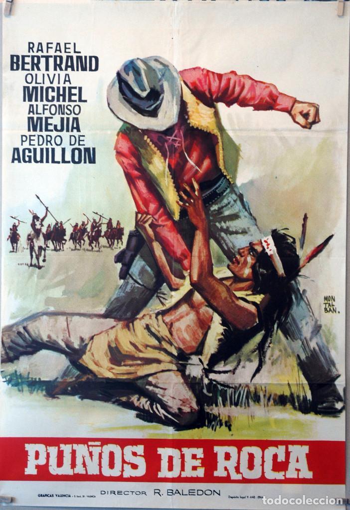 PUÑOS DE ROCA. CARTEL ORIGINAL 100X70 (Cine - Posters y Carteles - Westerns)