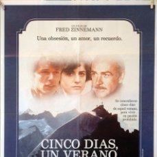 Cine: CINCO DÍAS, UN VERANO. SEAN CONNERY. FRED ZINNEMANN. CARTEL ORIGINAL 100X70. Lote 126147247