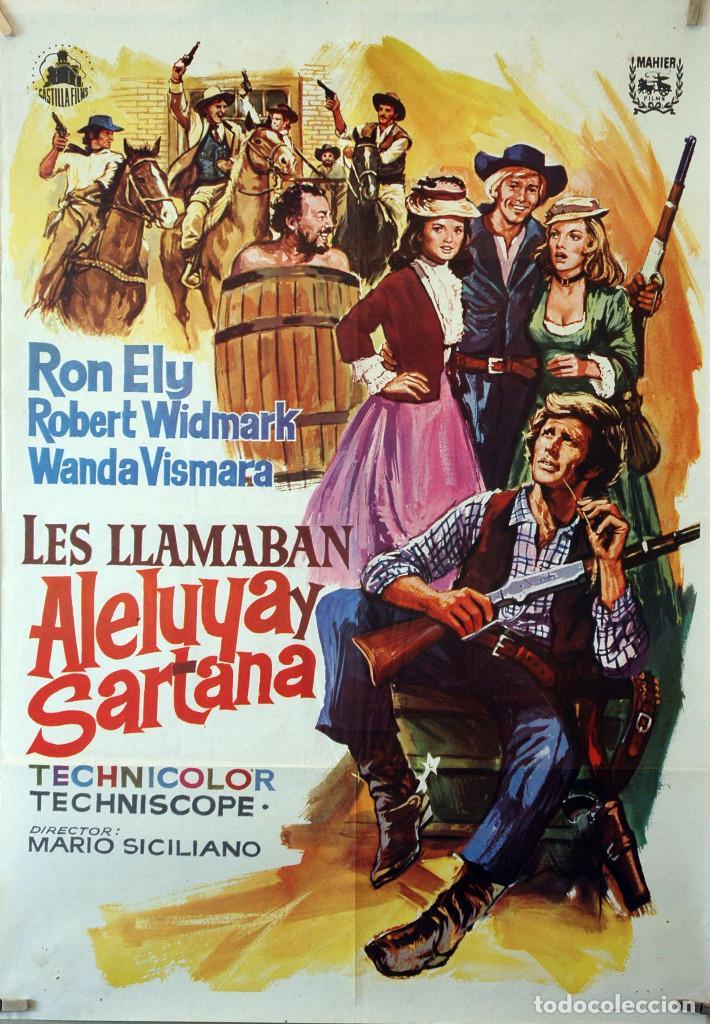 LES LLAMABAN ALELUYA Y SARTANA. CARTEL ORIGINAL 100X70 (Cine - Posters y Carteles - Westerns)