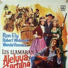 Cine: LES LLAMABAN ALELUYA Y SARTANA. CARTEL ORIGINAL 100X70. Lote 126147603
