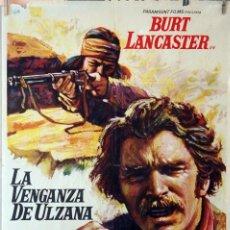 Cine: LA VENGANZA DE ULZANA. BURT LANCASTER. CARTEL ORIGINAL 100X70. Lote 126147883