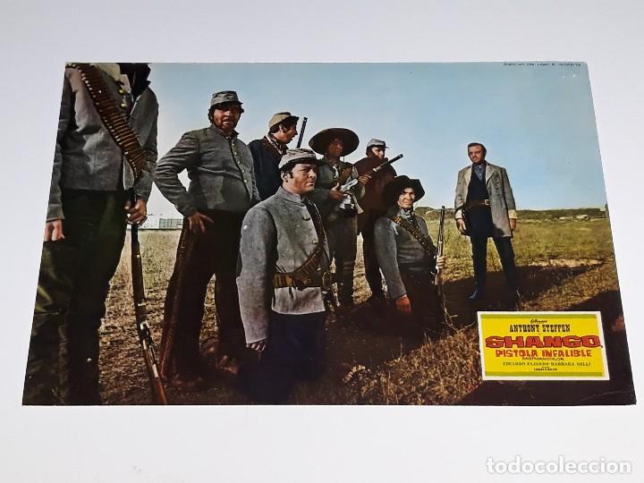 ANTIGUO CARTEL DE CINE - FOTOGRAMA PELICULA SHANGO PISTOLA INFALIBLE ANTHONY STEFFEN AÑO 1970 (Cine - Posters y Carteles - Westerns)
