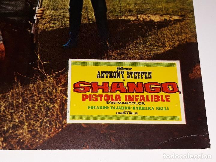 Cine: ANTIGUO CARTEL DE CINE - FOTOGRAMA PELICULA SHANGO PISTOLA INFALIBLE ANTHONY STEFFEN AÑO 1970 - Foto 2 - 126156555