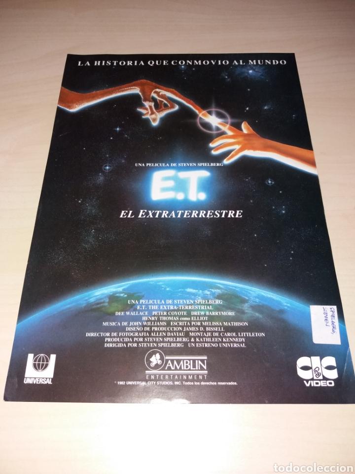 ANTIGUA PUBLICIDAD DE LA PELÍCULA Y MERCHANDISING DE LA MISMA, E.T. EL EXTRATERRESTRE (Cine - Posters y Carteles - Ciencia Ficción)