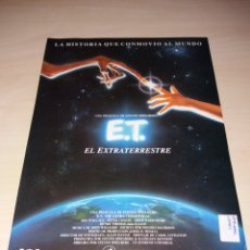 Cine: ANTIGUA PUBLICIDAD DE LA PELÍCULA Y MERCHANDISING DE LA MISMA, E.T. EL EXTRATERRESTRE. Lote 126259083