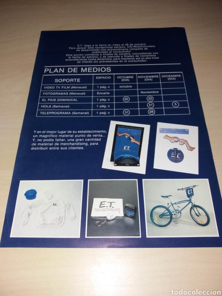 Cine: Antigua publicidad de la película y merchandising de la misma, E.T. EL EXTRATERRESTRE - Foto 2 - 126259083