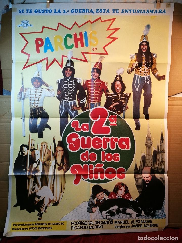 CARTEL CINE ORIG LA 2ª GUERRA DE LOS NIÑOS (1981) 70X100 / GRUPO PARCHÍS / MANUEL ALEXANDRE (Cine - Posters y Carteles - Infantil)