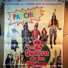 Cine: CARTEL CINE ORIG LA 2ª GUERRA DE LOS NIÑOS (1981) 70X100 / GRUPO PARCHÍS / MANUEL ALEXANDRE. Lote 126431719