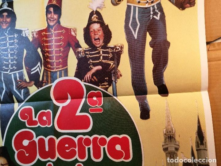 Cine: cartel cine orig LA 2ª GUERRA DE LOS NIÑOS (1981) 70x100 / Grupo Parchís / Manuel Alexandre - Foto 2 - 126431719