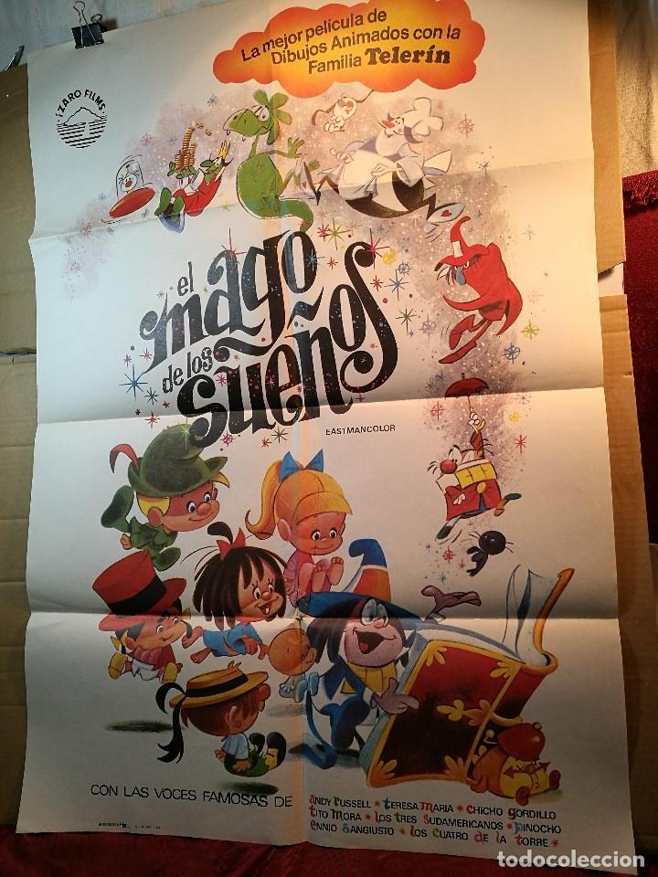 Cine: EL MAGO DE LOS SUEÑOS FAMILIA TELERIN ANIMACION POSTER ORIGINAL 70X100 ESPAÑOL - Foto 2 - 126432035