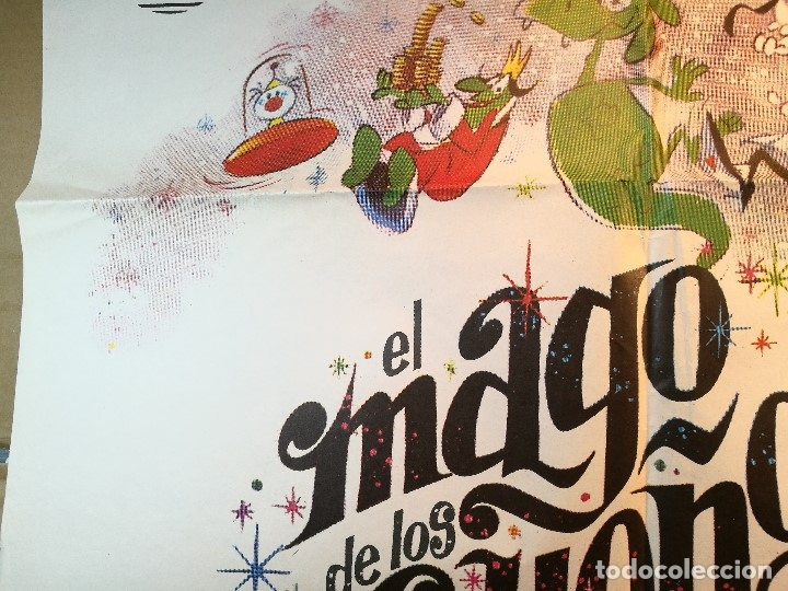 Cine: EL MAGO DE LOS SUEÑOS FAMILIA TELERIN ANIMACION POSTER ORIGINAL 70X100 ESPAÑOL - Foto 6 - 126432035